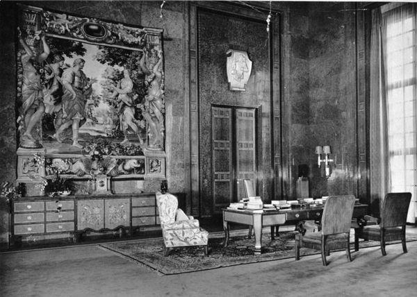 会談が行われたレゴリス帝国総統官邸及び官邸内部の紫水晶の間